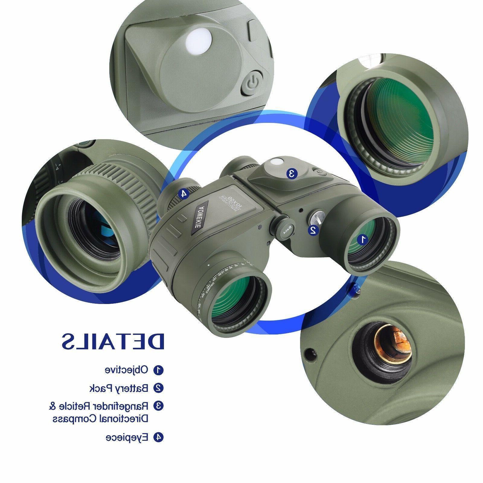10X50 Binoculars Night Vision BAK4 Prism