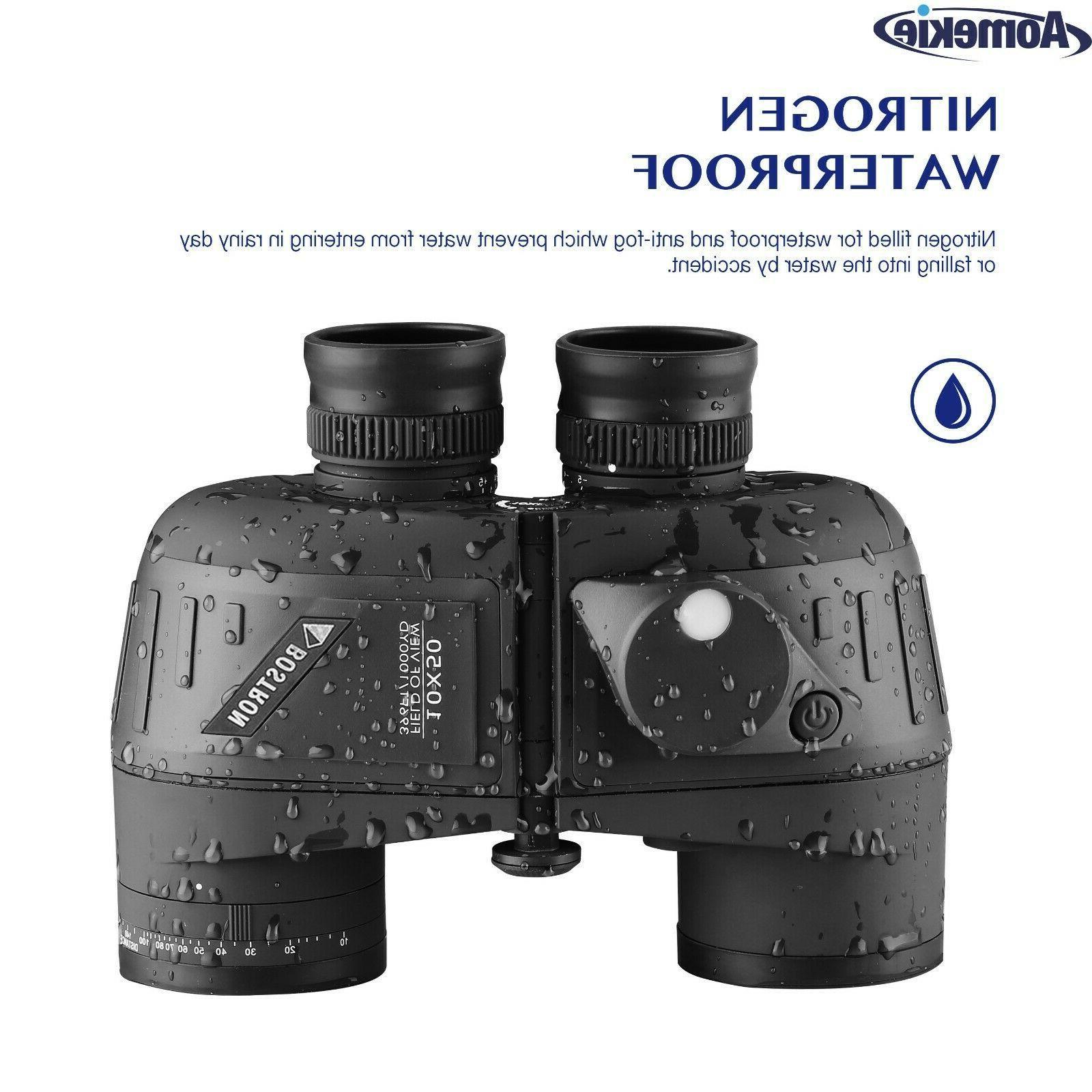 10X50 Low Light Vision Rangefinder Compass