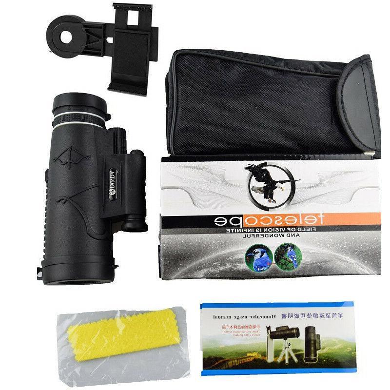 12X50 Monocular Compass Flashlight US