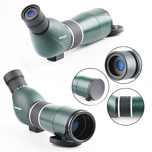 Solomark Waterproof Spotting Scope with Digiscoping Angled Eyepiece Green