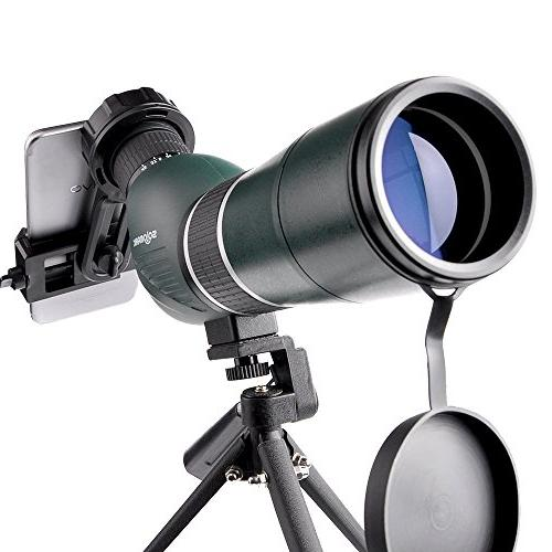 Solomark Scope with and Digiscoping Adapter, 45-Degree Angled Eyepiece Army