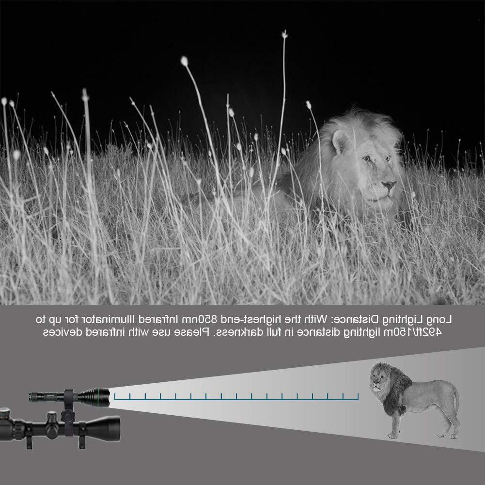 UniqueFire IR 850NM illuminator vision T-38mm hunting