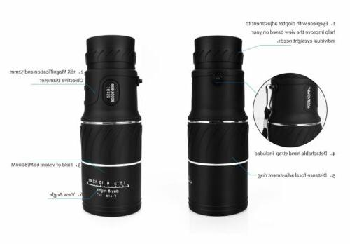 16x52 Vision HD Monocular Telescope