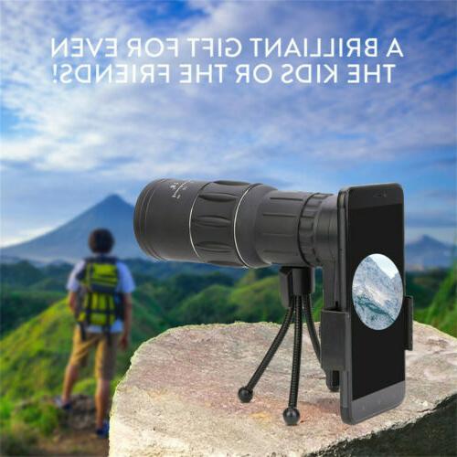 16X52 HD Optical Focus Day/Night Camping Hiking Telescope