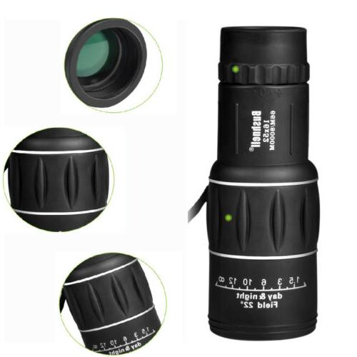 16X52 HD Monocular Day/Night Vision Hiking Telescope
