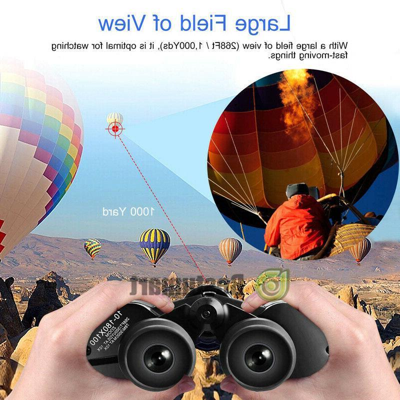 180x100 High Power Binoculars Hunting Camping+Bag