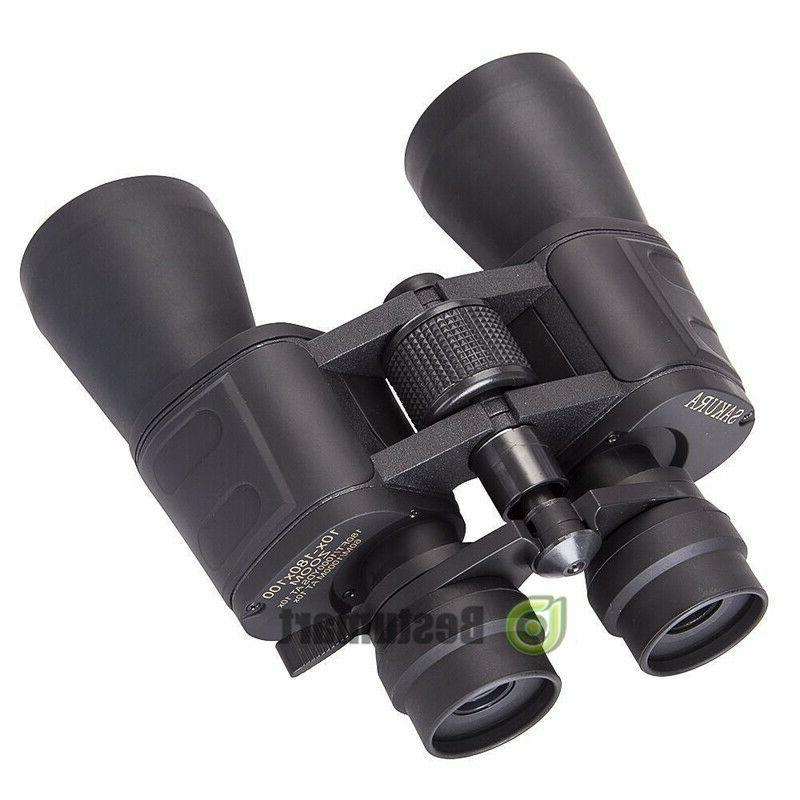 180x100 High Military Binoculars Day/Night Hunting Camping+Bag