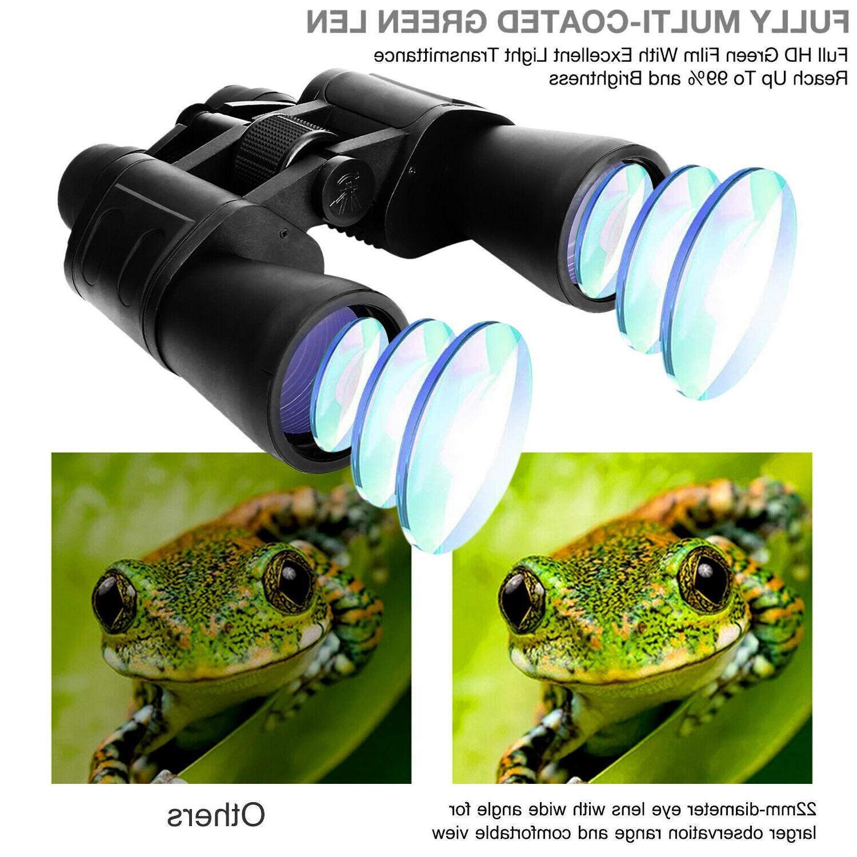 180x100 Zoom Powerful Binoculars Camping Telescope+Case