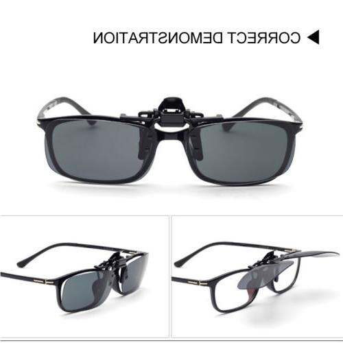 Mens Driving Clip-on Glasses