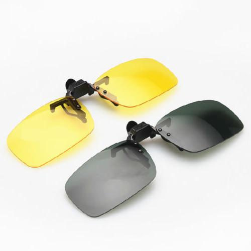 Mens Night Clip-on Flip-up Glasses