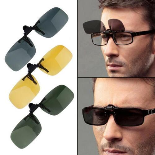 mens driving night vision clip on flip