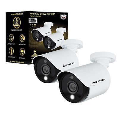 2 Pack Night Owl InDoor OutDoor Wired Cameras Spotlight Nigh