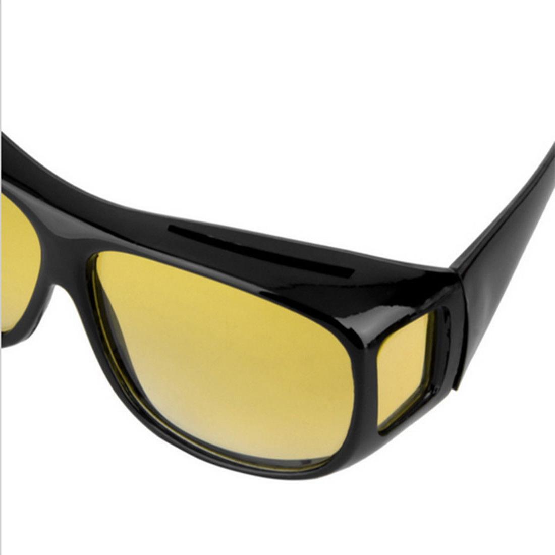 2 Pair HD Night Sunglasses Fits Glasses Seen