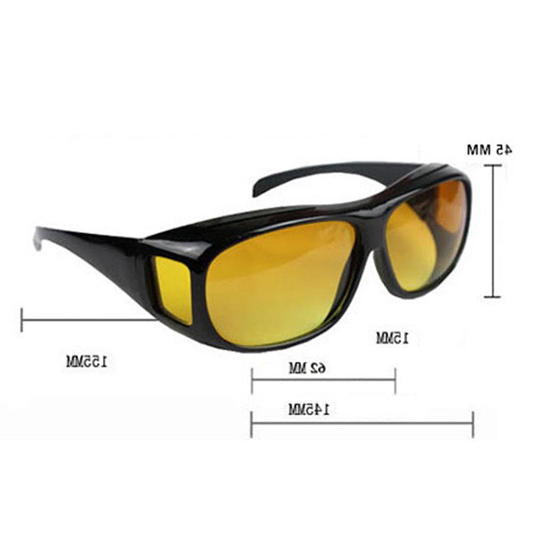 2 Pair HD Night Sunglasses Fits As