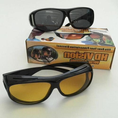 Night Wraparound Sunglasses As Seen on TV Fits OVER