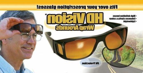 2 Night Wraparound Sunglasses As Seen TV Fits