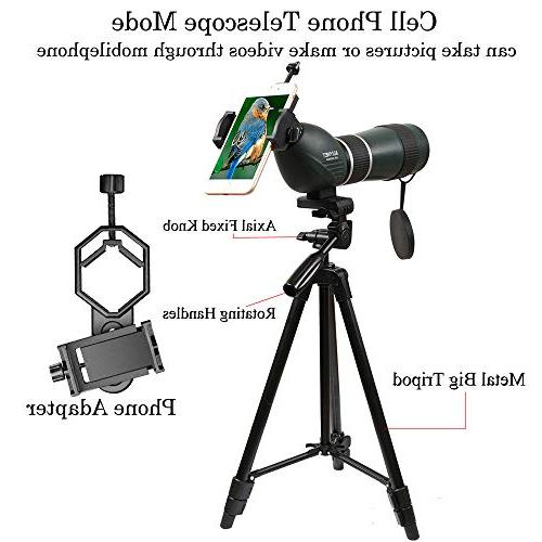 Aliynet Scope Telescope with WiFi Connect with Application,Infrared Night Vision Big Adapter for Outdoor Trip,Night Watching