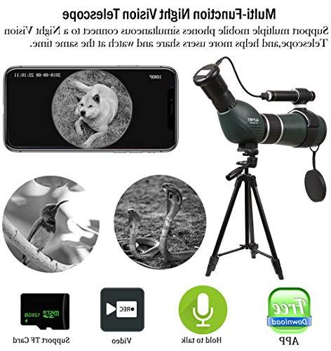 Aliynet Telescope Connect with Smartphone Application,Infrared Night Outdoor