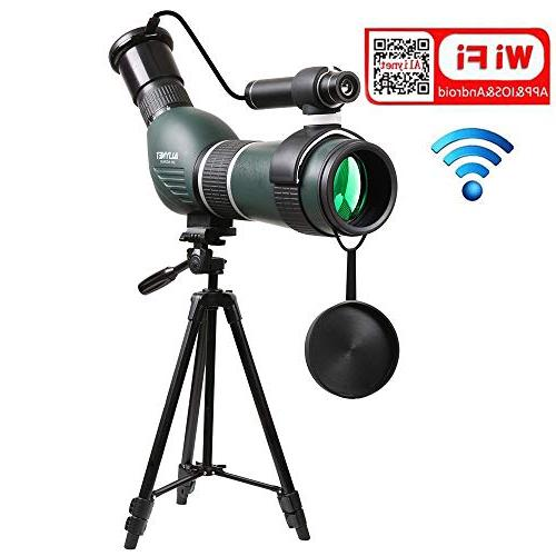 20 60x60mm spotting scope telescope with wifi
