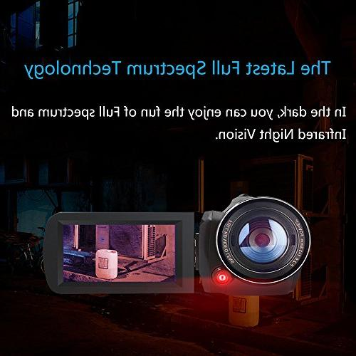 2018 Camcorder, 30FPS Infrared Paranormal Camcorder Video Recorder 18X Zoom Camera