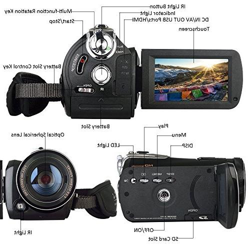 2018 Wifi Full Spectrum Camcorder, HD 30FPS Infrared Night Vision Paranormal with Video Zoom Camera