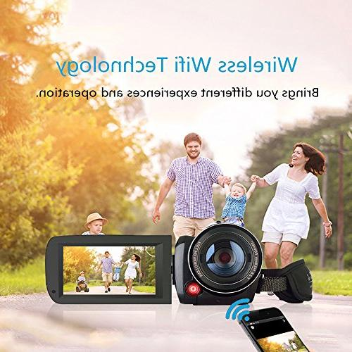 2018 Wifi Camcorder, 1080P 30FPS Paranormal Investigation Camcorder Video Zoom Ghost Hunting Camera
