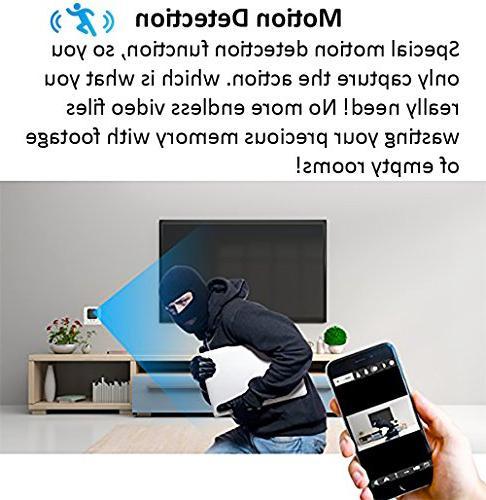 2018 Model: Wall Charger, HD Resolution, Nanny USB 128GB Memory - Motion Detection, Wi-Fi No