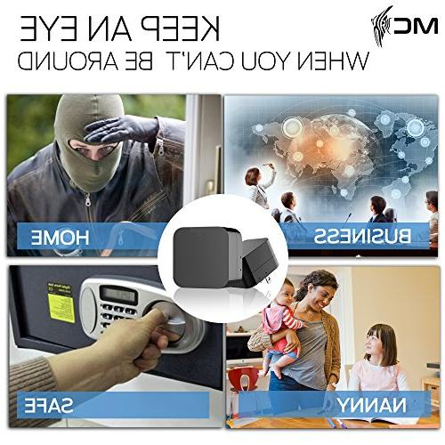 2018 Model: Wall Charger, HD USB Security 128GB SD Memory - Superior Detection, Wi-Fi Viewing. Free No