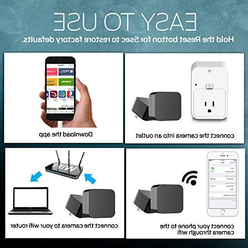 2018 Model: Wall Night HD Cam USB Security 128GB - Superior Detection, Wi-Fi Viewing. Free No