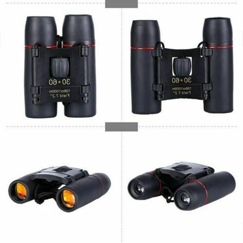 30 x 60 Day Night Travel Binoculars Hunting +