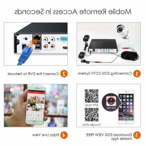 ZOSI Vision CCTV Outdoor Camera 0-2TB HDD
