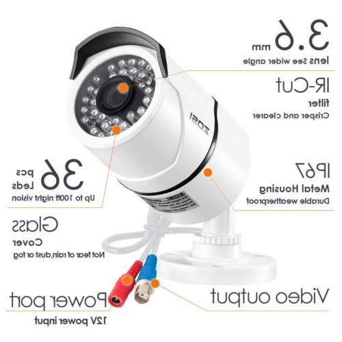ZOSI DVR Night Vision Camera System 0-2TB