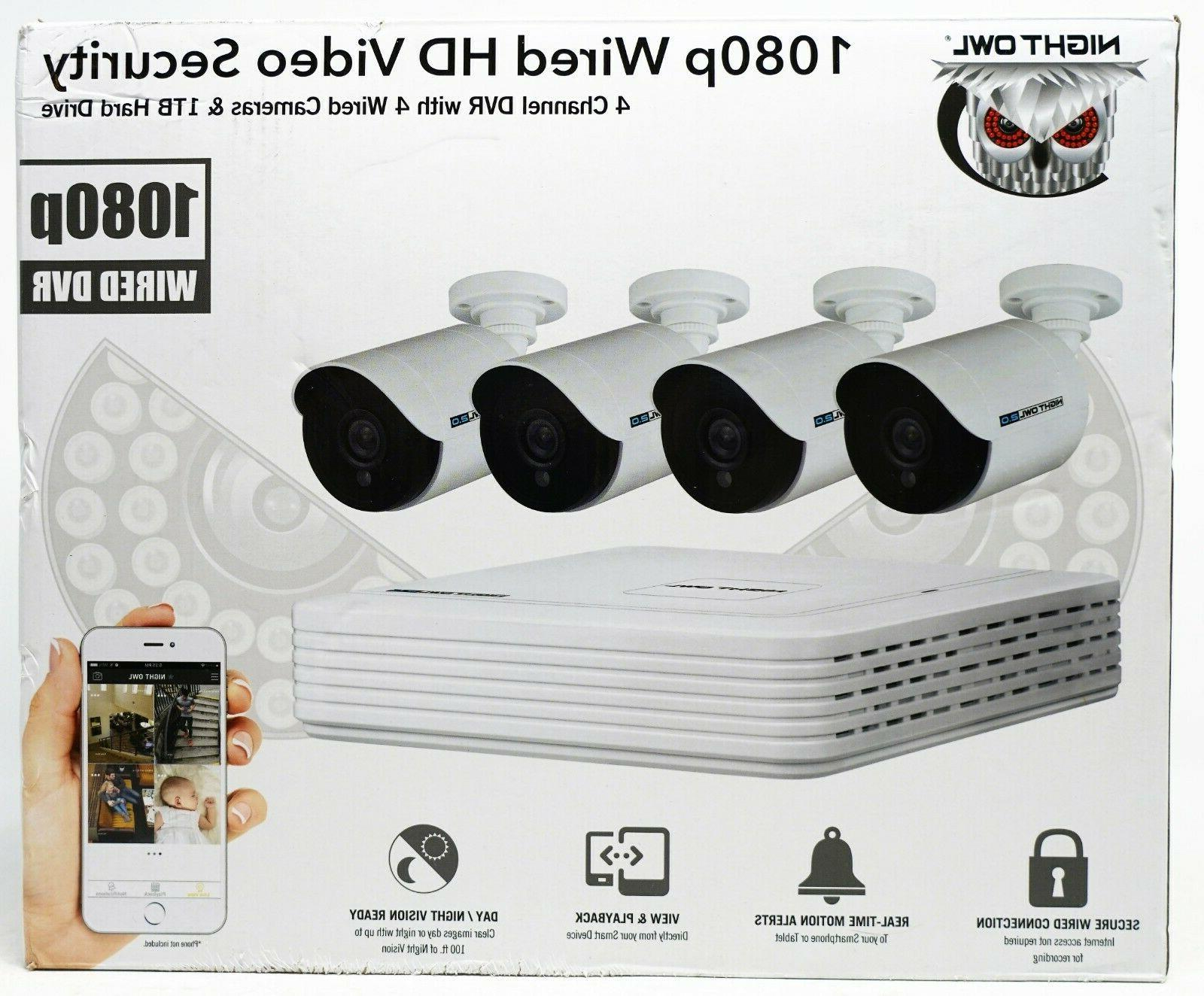 4 channel 1080p dvr with 4 x