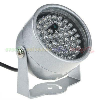 2pcs 48 Illuminator Light Security CCTV Camera