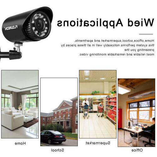 4CH Night Vision Home Security Camera CCTV 4 Motion Detect lot