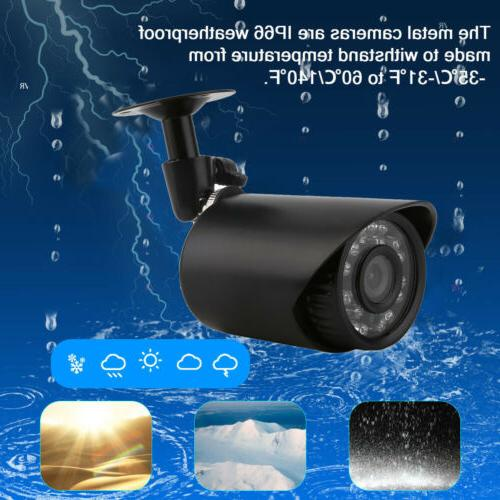 4CH 1080N Home Security Camera CCTV DVR 4 Motion Detect