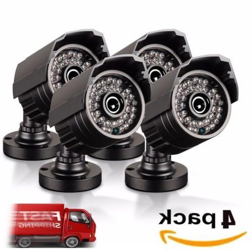 4pcs full hd 1080p bullet security camera