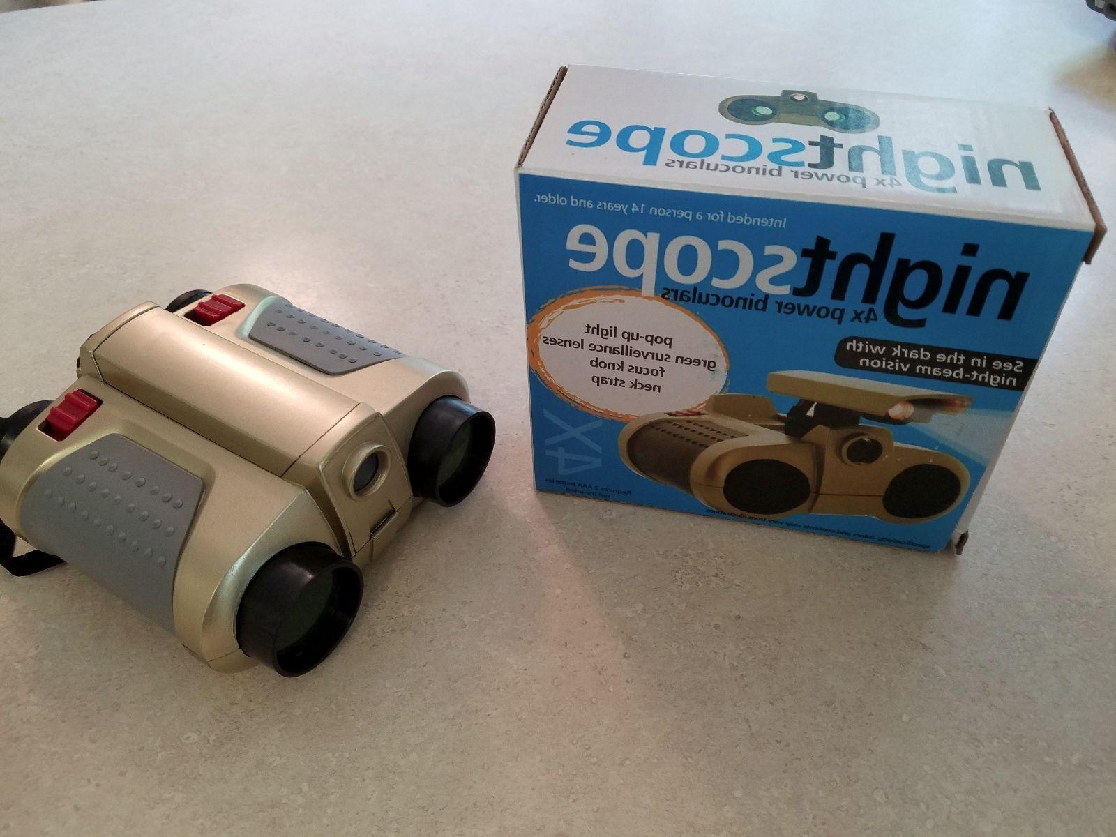 Night Scope power binoculars, dark w/night-beam