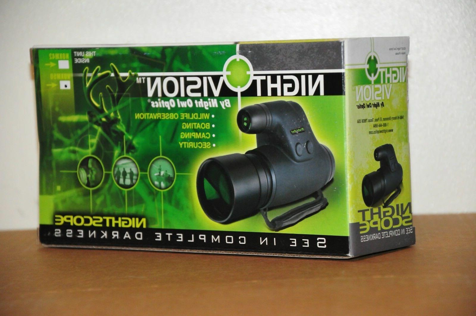Night Owl Optics 5-Power NOXM50 Night Vision Monocular Hunting & Fishing