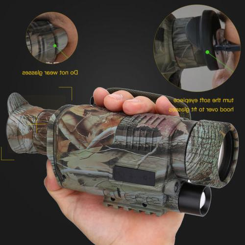 5x40 Infrared IR Night Vision Digital Video Camera Monocular
