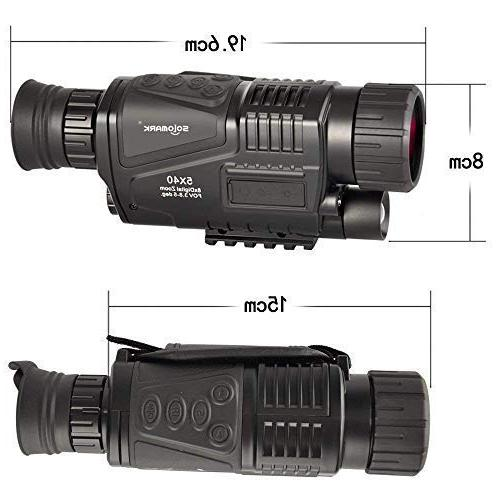 SOLOMARK 5x40 Monocular-Infrared with Recording and Function in Hunting Security Surveillance Included