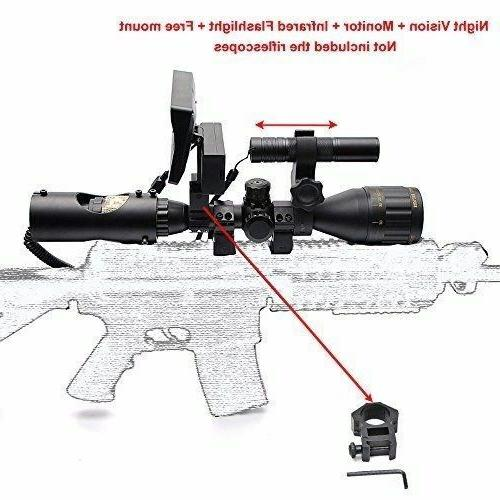 6-24X50 Night INCLUDING SCOPE with and Laser Flashlight for RIFLE