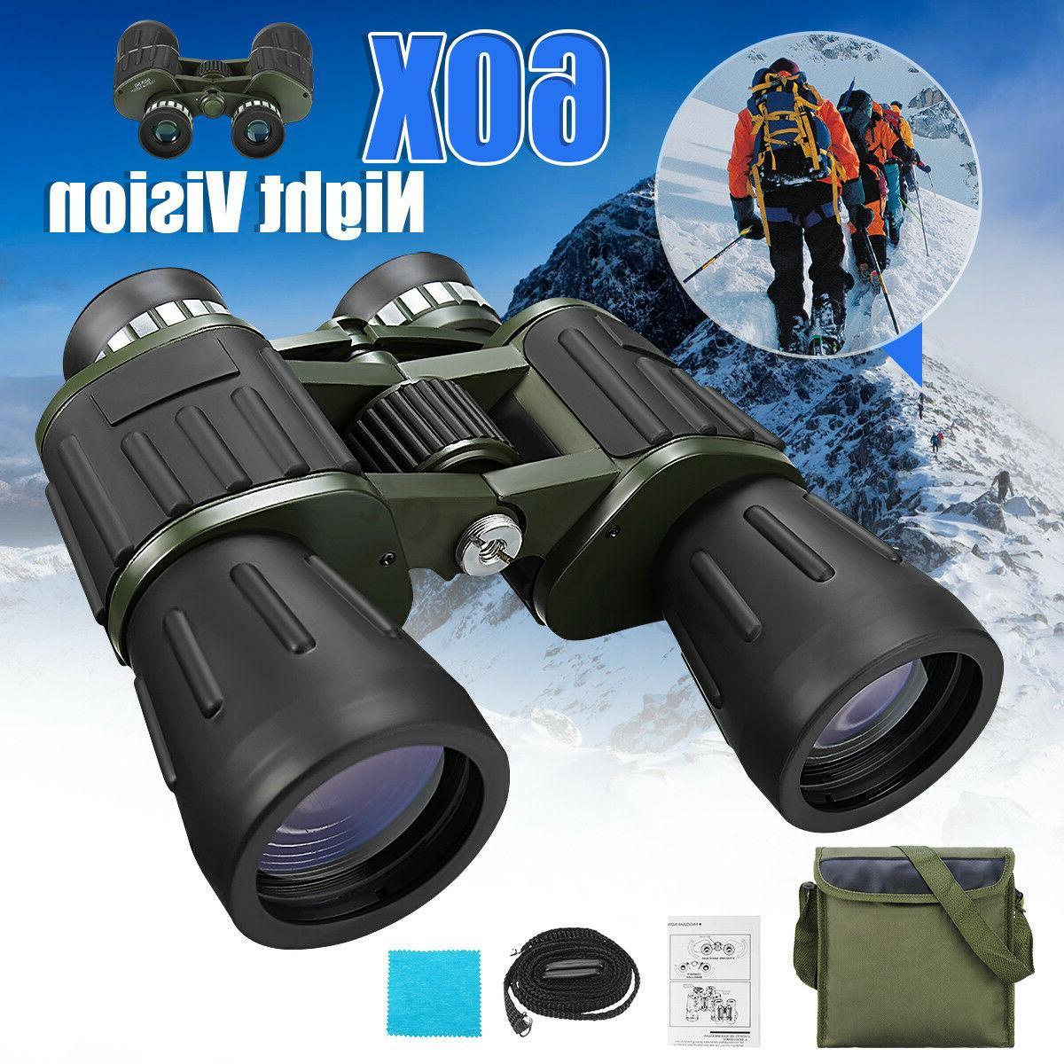 60 x 50 Zoom Day Night Vision Outdoor Travel Binoculars Hunt