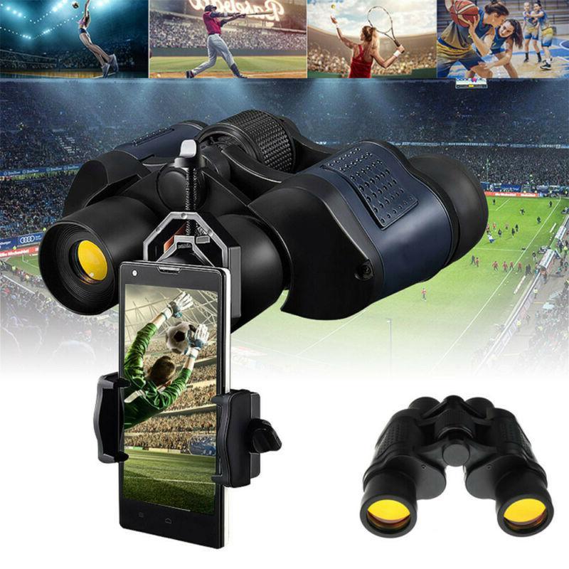 60X60 Zoom Binoculars Vision Outdoor Hunting Telescope +Bag