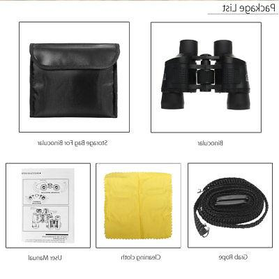 60X60 Zoom Outdoor HD Binoculars Telescope Case