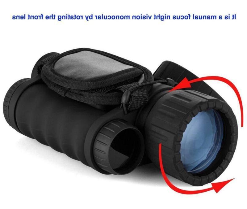 Bestguarder 6x50mm Digital Night Vision Monocular 1.5 inch and C