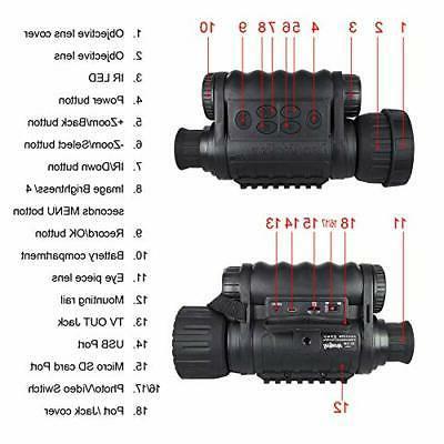 Night Digital Camera 6x50mm inch
