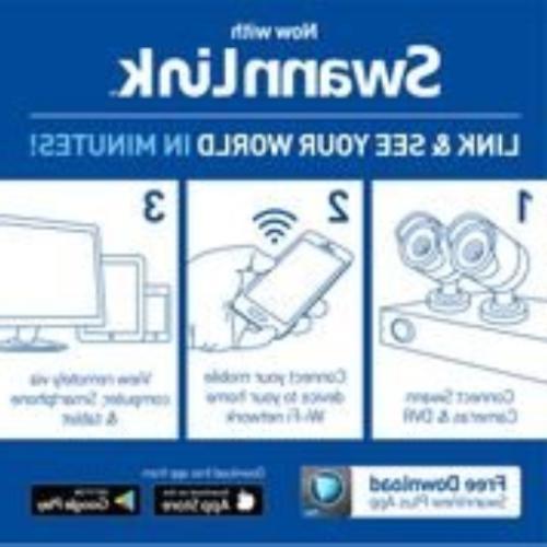 Swann with 2TB Hard Drive & 4X 4K Pir Cameras