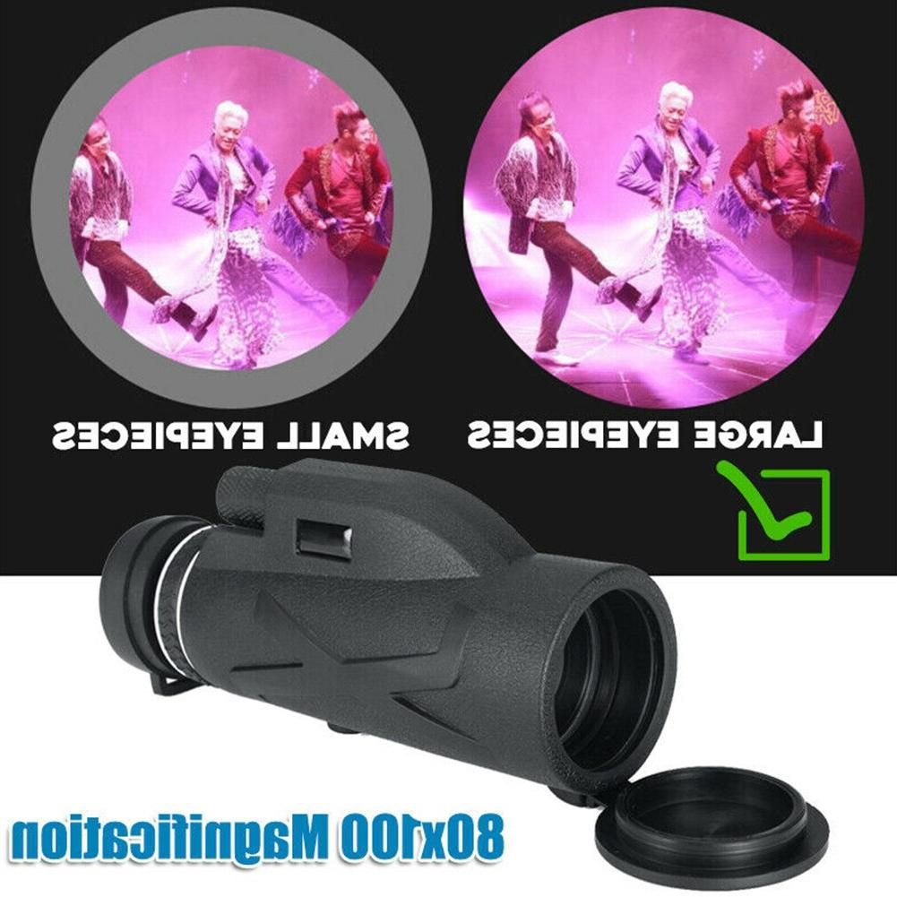 80x100 Outdoor Optical Lens Adjustable HD Camping Camera