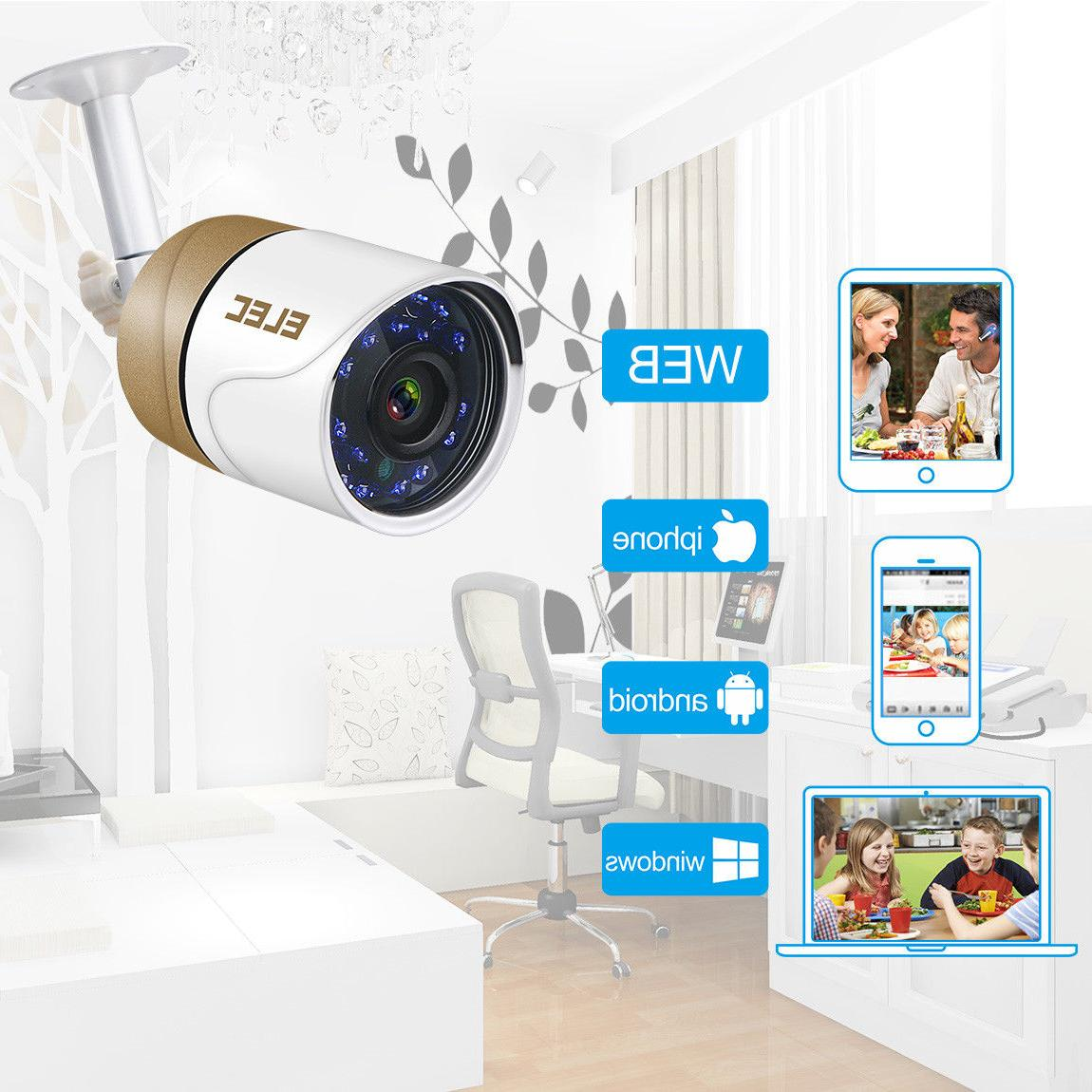 ELEC 1080P DVR 1500TVL Outdoor Night System